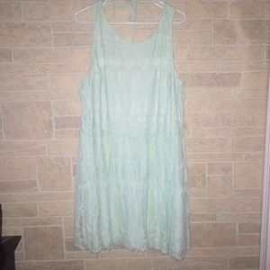 Mint Colored Lace/Frilly Dress